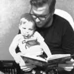 reading a book to my son